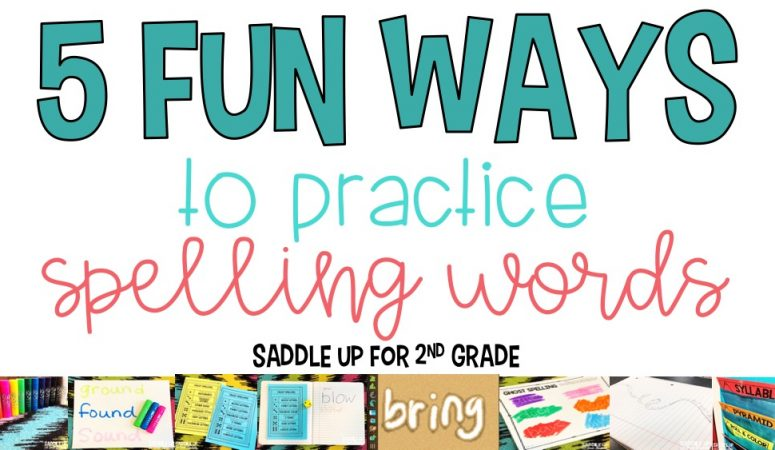 5 Fun Ways to Practice Spelling Words