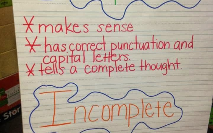Mixing Up Complete and Incomplete Sentences Halloween Style
