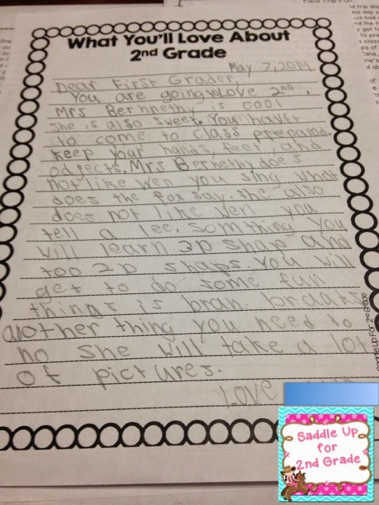 This fun writing activity is perfect for the end of the school year. Your students will write letters to the class coming up and share all kinds of information that they learned. Come see the letters my students wrote and grab this FREE writing template too!