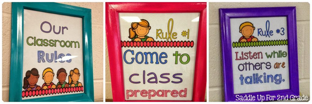 These Classroom Rules Posters are a great visual display to use in your room. There are six ink friendly posters included. You can grab them for FREE on my blog!