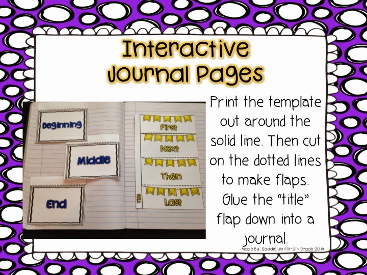 Story Sequence Interactive Notebook Pages