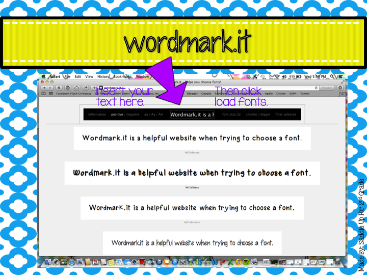 wordmark.it - a great website for helping you choose the perfect font by Saddle Up For 2nd Grade
