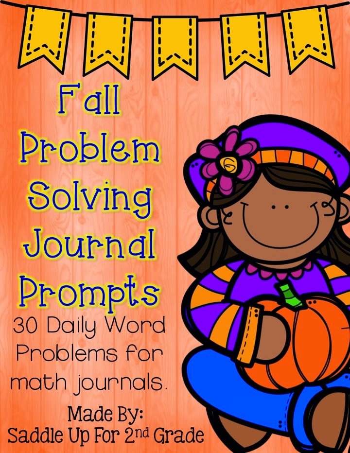 Fall Problem Solving Journal Prompts by Saddle Up For 2nd Grade