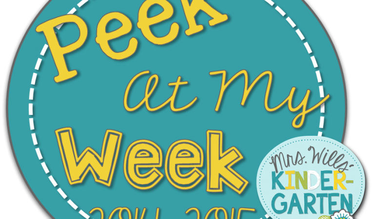 Peek At My Week ~ September 7th