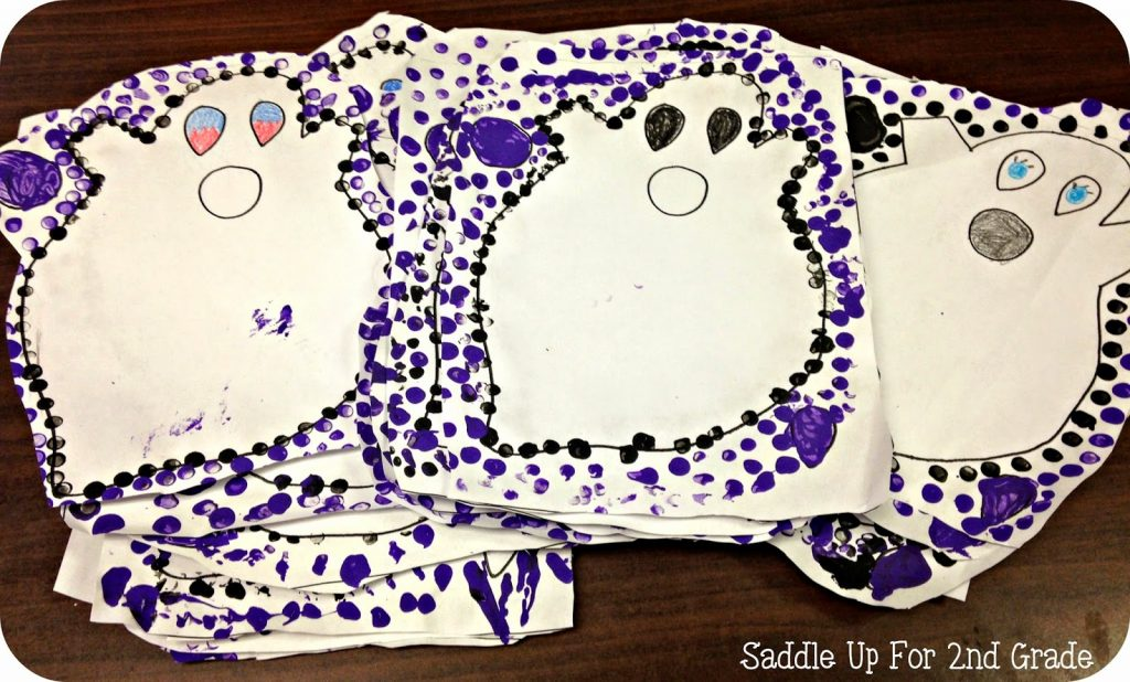 Pencil Art Ghosts by Saddle Up For 2nd Grade