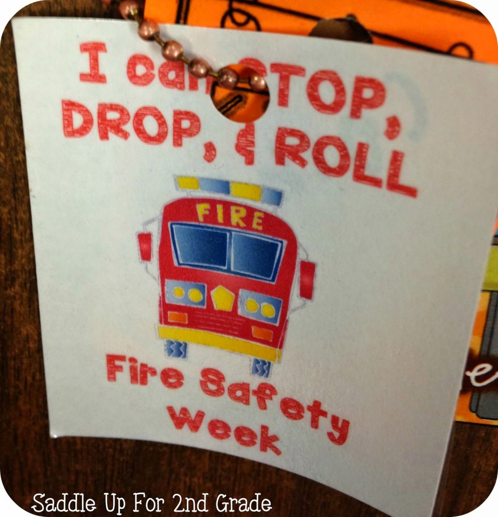 Fire Safety Brag Tag FREEBIE by Saddle Up For 2nd Grade