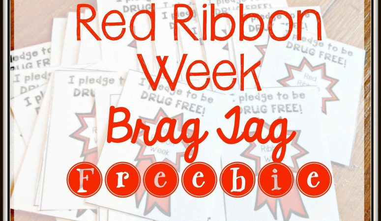 Red Ribbon Week Brag Tag FREEBIE