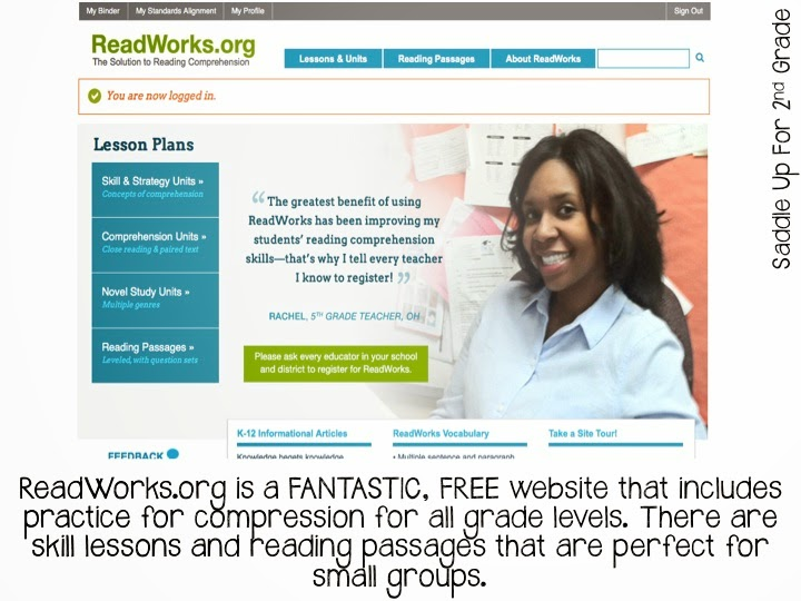 ReadWorks.org: FREE comprehension practice for all grade levels blog review by Saddle Up For 2nd Grade