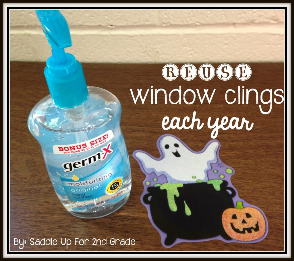 How to reuse window clings by Saddle Up For 2nd Grade