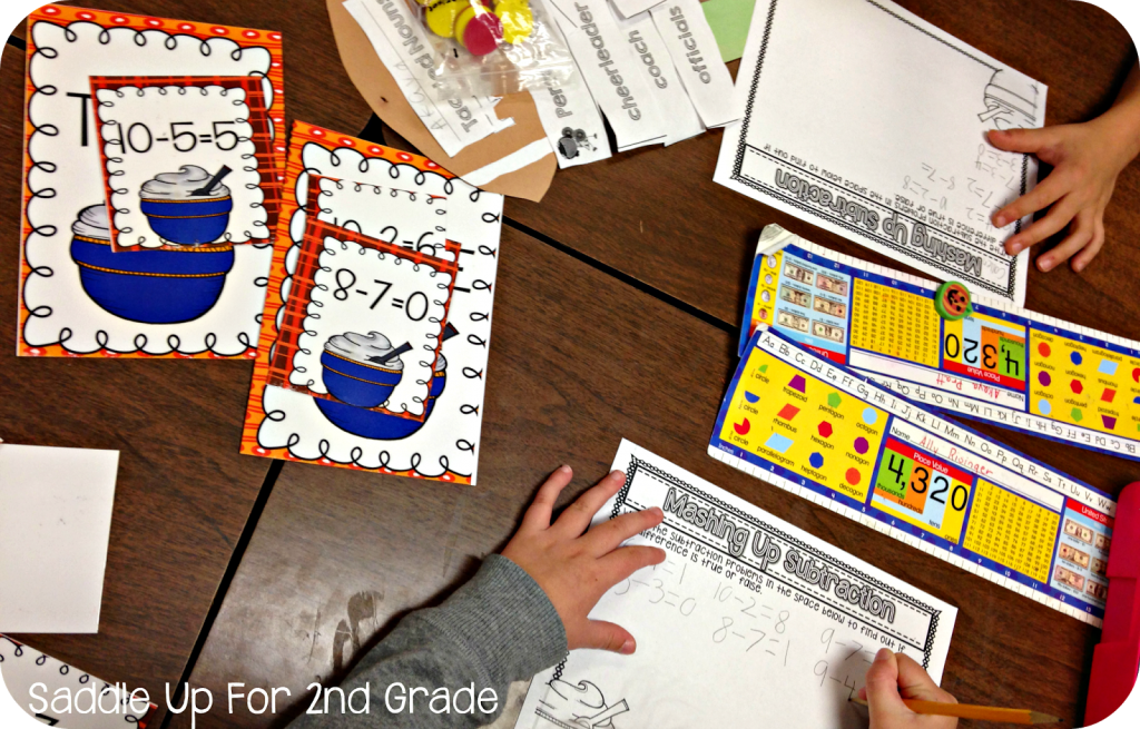 Gobble! Gobble Math Stations by Saddle Up For 2nd Grade