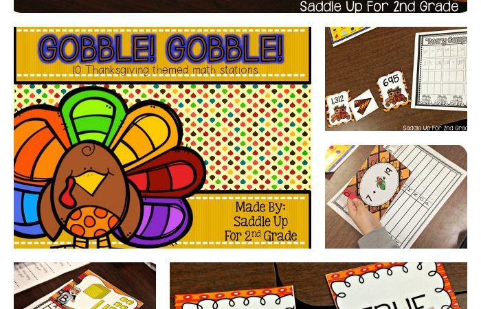 Gobble! Gobble! Math Stations!