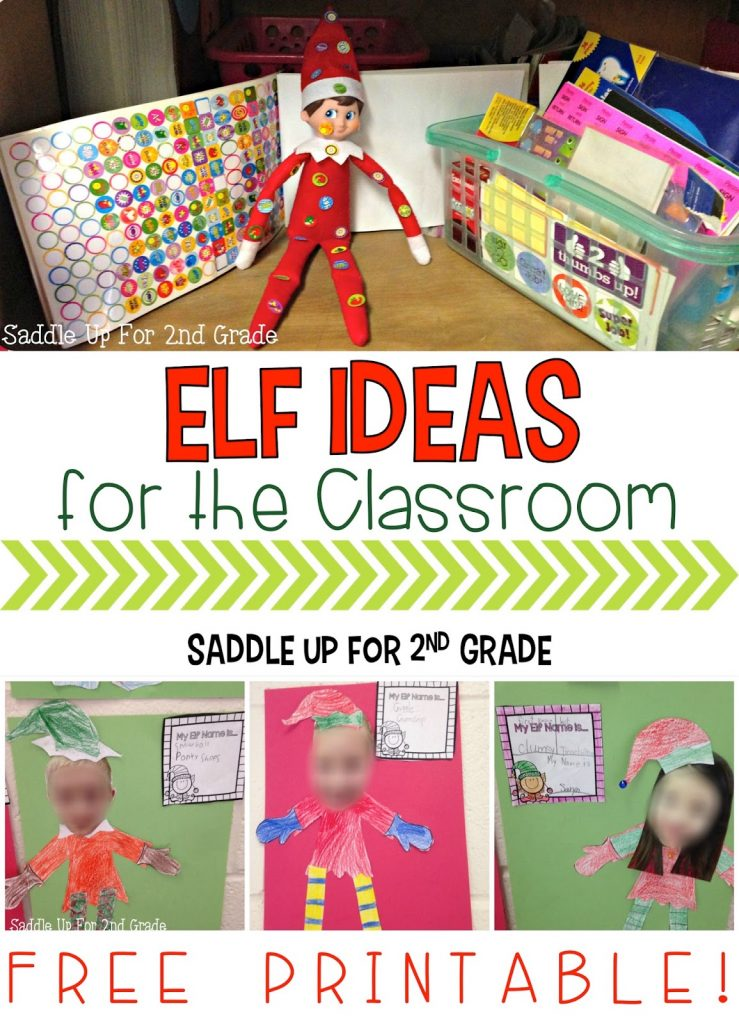 Do you have a classroom elf? This blog post is full of ideas on how you can incorporate one info your classroom. It includes elf ideas, adjective writing, and a fun activity that you can grab for FREE! Your class will love it for sure!