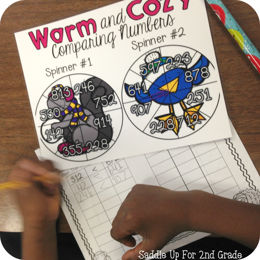 Warm and Cozy Comparing Number Math Stations by Saddle Up For 2nd Grade