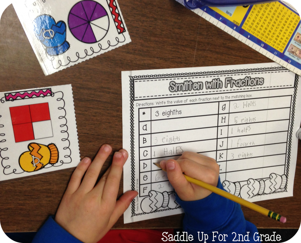 Smitten with Fractions Math Stations by Saddle Up For 2nd Grade