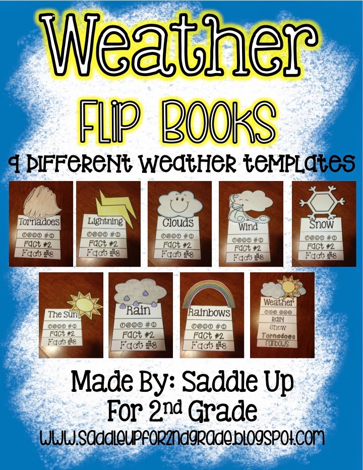 Weather Flip Books by Saddle Up For 2nd Grade