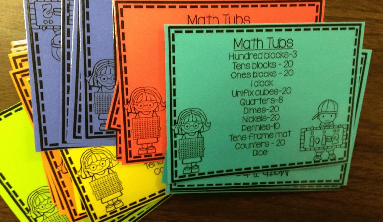 Math Manipulative Tubs