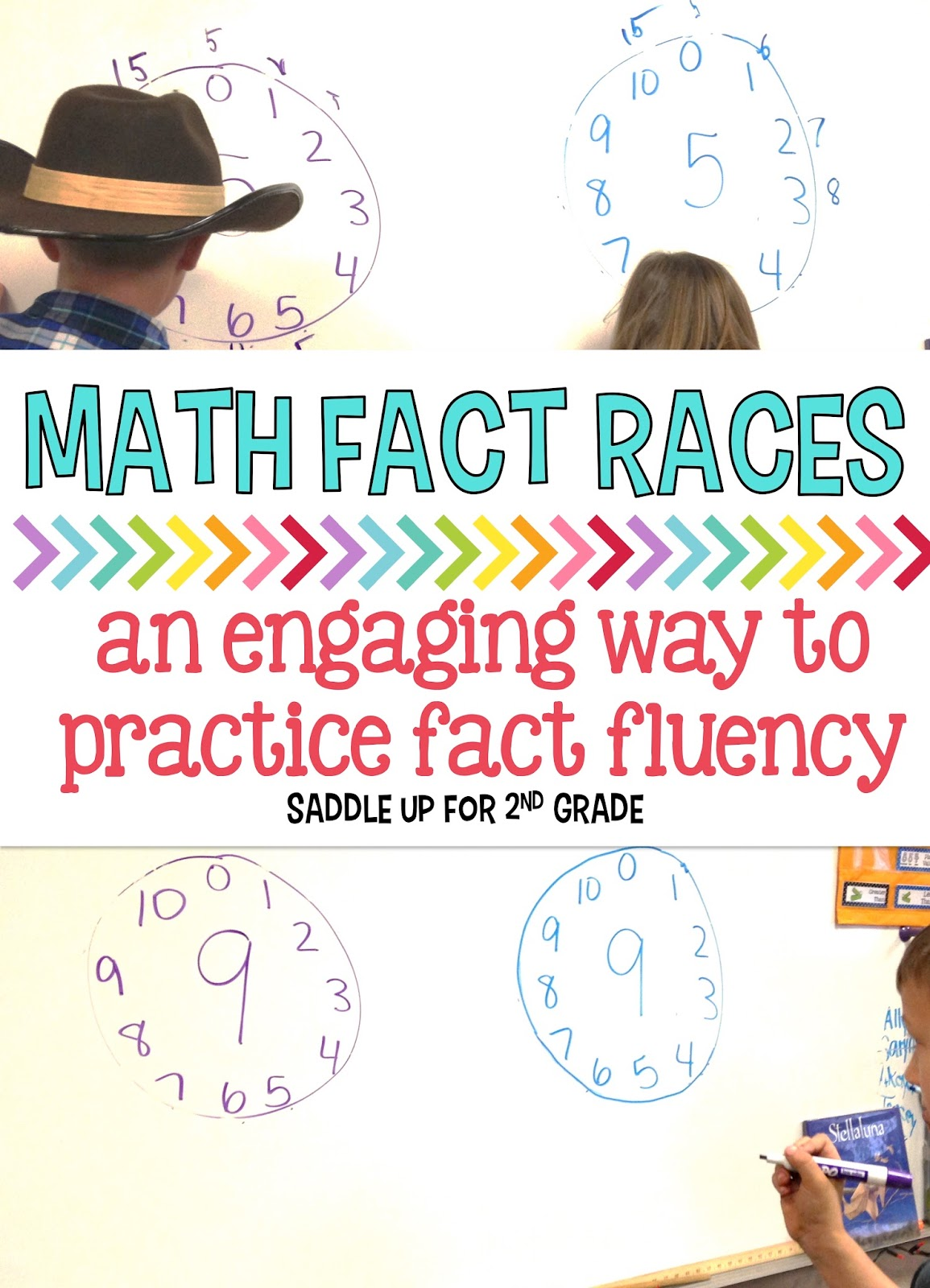 Math Fact Fluency Races - Saddle Up for 2nd Grade