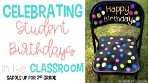Student Birthdays in the Classroom