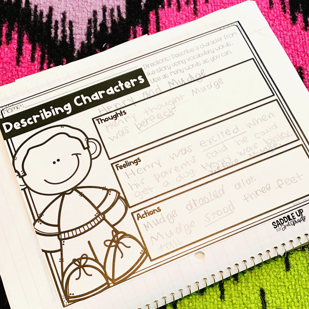 Describing Characters a great activity for practicing vocabulary words. Keep your students engaged with this meaningful vocabulary activity.