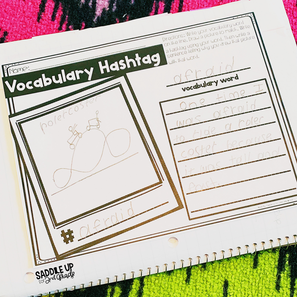 Vocabulary Hashtag a great activity for practicing vocabulary words. Keep your students engaged with this meaningful vocabulary activity.