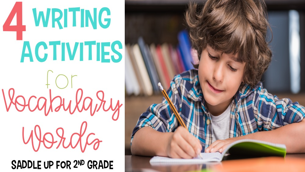 This blog post features 4 writing activities for vocabulary words. These vocabulary activities are perfect for any word list and are great for word work practice.