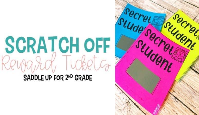 Classroom Reward Scratch Off Tickets