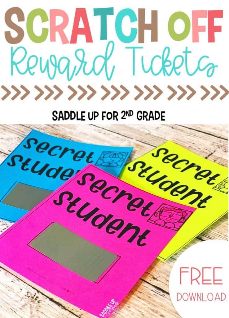FREE Scratch Off Classroom Reward Tickets