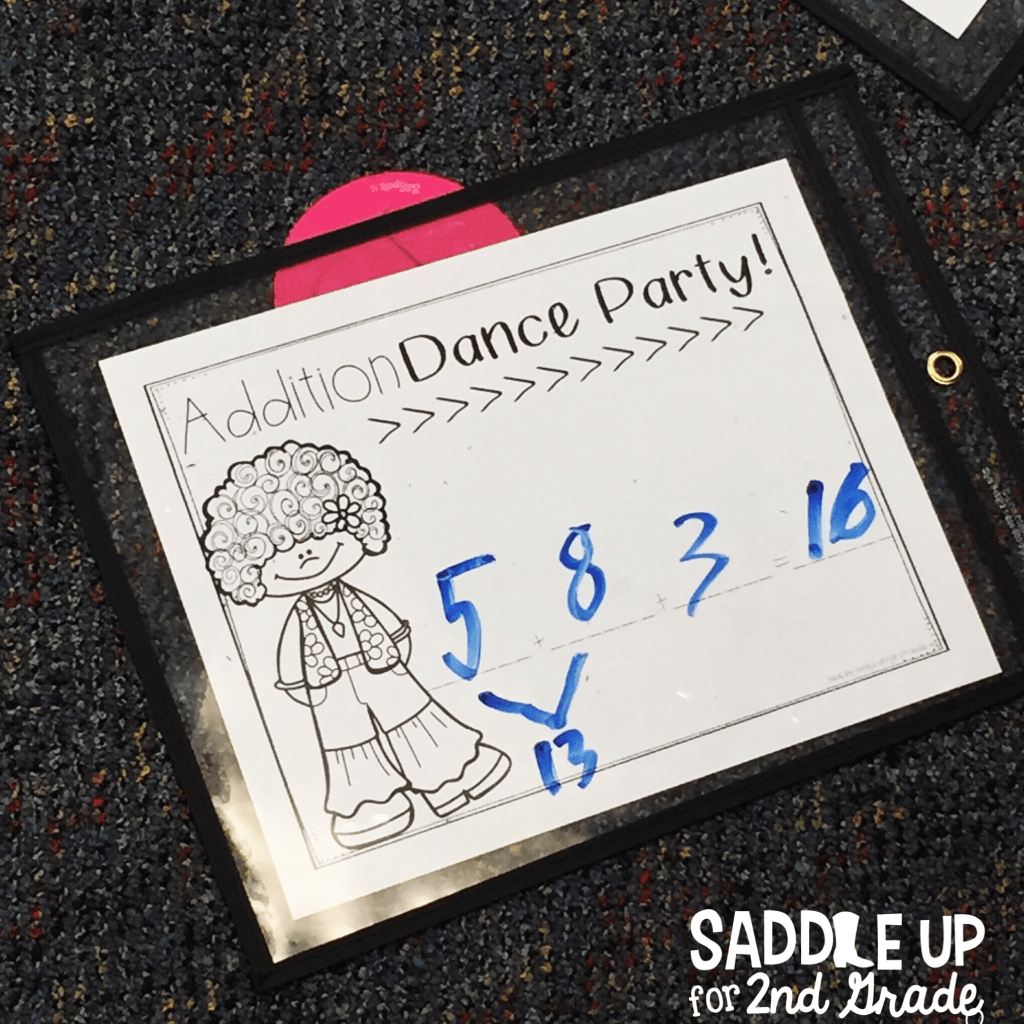 Dance party math mats are perfect for integrating movement into learning.