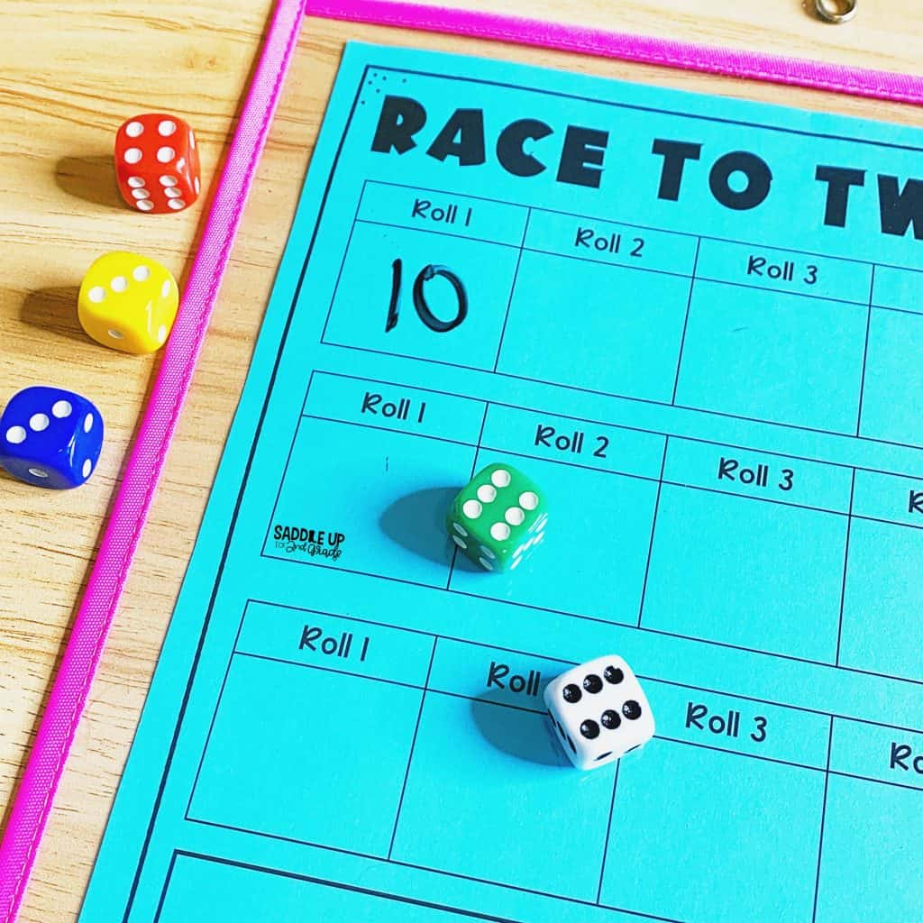 Race to Twenty Addition Math Game