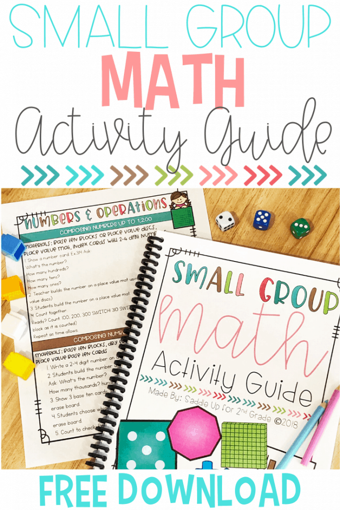 Small Group Guided Math Activity Guide