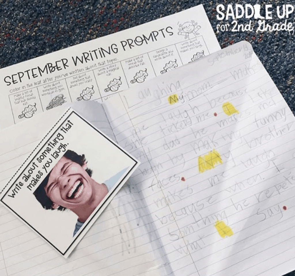 Writing prompts for 2nd grade