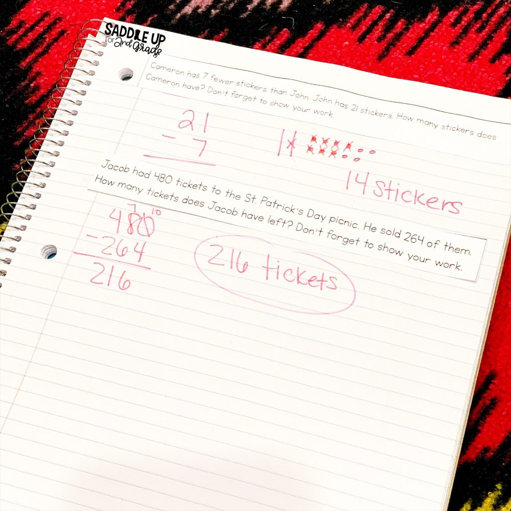 Subtraction with regrouping word problems