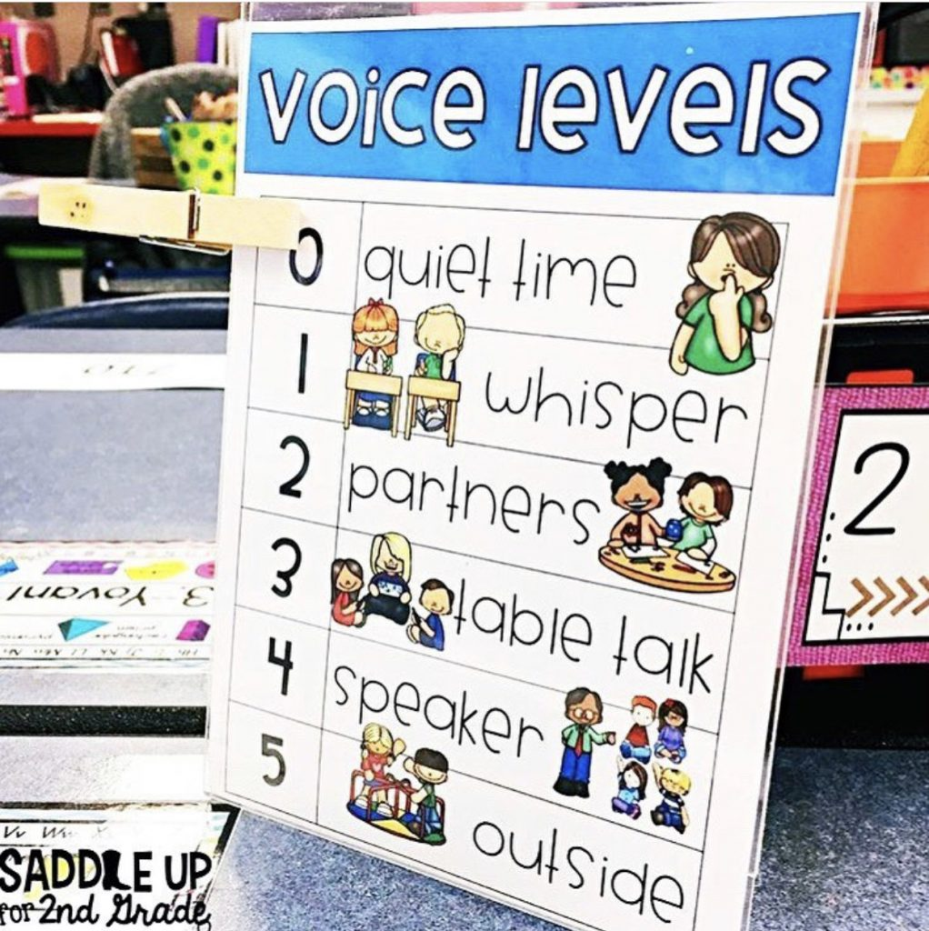 voice levels for guided math transitions