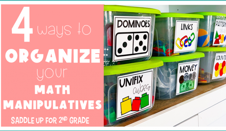 4 Ways to Organize your Math Manipulatives