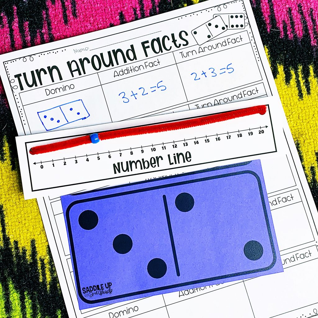 addition facts on a number line
