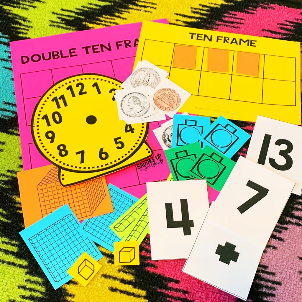 printable math manipulatives for distance learning