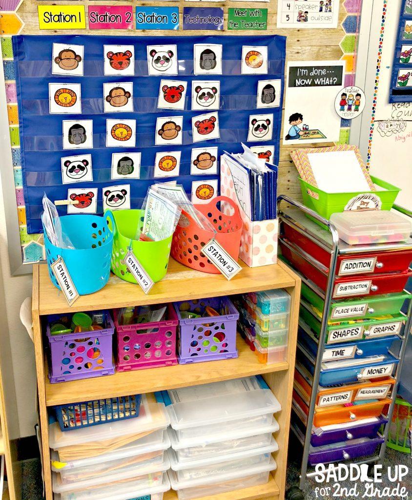 math station classroom setup